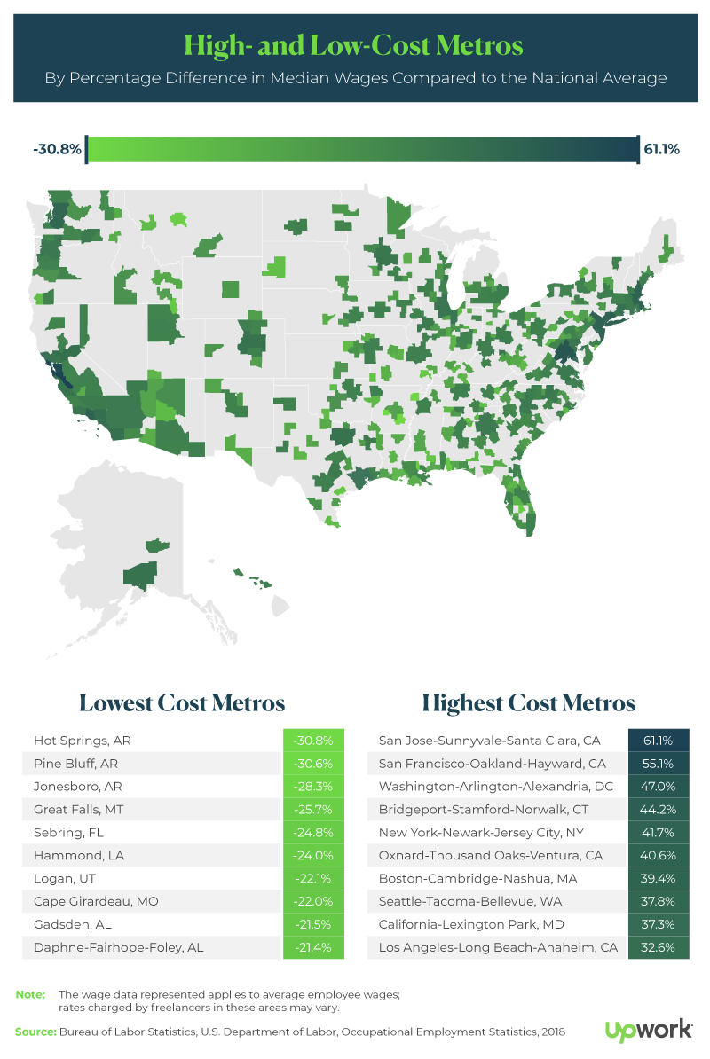High- and Low-Cost Metros Map